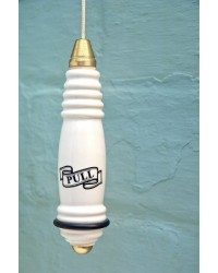 Traditional Ceramic Light Pull - Brass