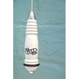 Traditional Ceramic Light Pull - Chrome