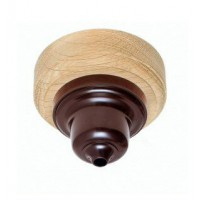 Ceiling Rose - 'Bakelite' - Natural Oak