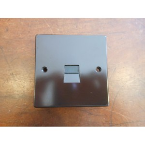 'Bakelite' Telephone Master Socket - Square Edged