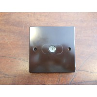 'Bakelite' Television Isolated Socket - Square Edged