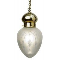 Ottoman Pendant Light Fitting - Star Shade - Antique Finish