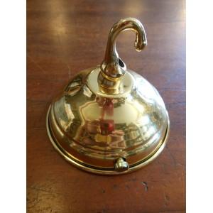 Ceiling Rose - Single Hook - Polished Brass