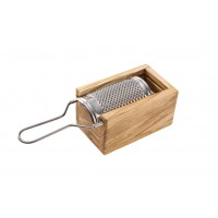 Nutmeg 'Box' Grater - Olive Wood