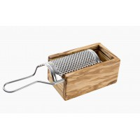 Parmesan 'Box' Grater - Olive Wood