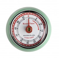 Magnetic Retro Timer - Mint Green
