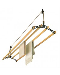 "Sheila Maid® Clothes Airer - 57""- 4 Rails - Black Fittings"