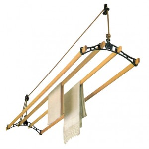"""Sheila Maid® Clothes Airer - 57""""- 4 Rails - Black Fittings"""