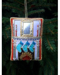 Embroidered Decoration - Fireplace