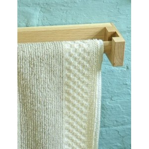 Roller Towel Holder - Natural Oak or Painted White - Wide Roller Towel