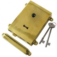 Anvil 35000  Rim Lock with Solid Brass Cover & Keep - Polished Brass