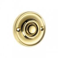 British Made - Round Bell Push - Brass