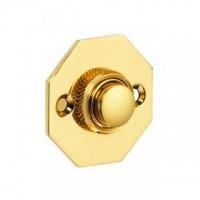 British Made - Octagonal Bell Push - Brass