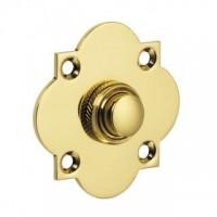 British Made - Quatrefoil Bell Push - Brass