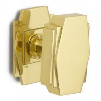 British Made - Art Deco Centre Door Pull - Brass