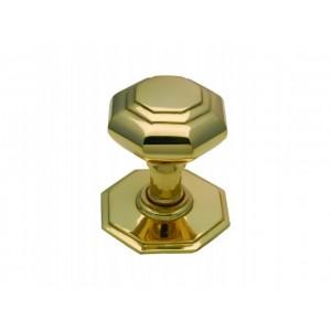 Centre Door Pull - Octagonal Brass - Large