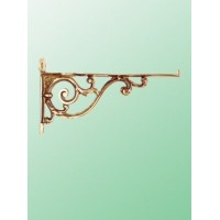 Bathroom Shelf Brackets - Brass - Pair- Medium