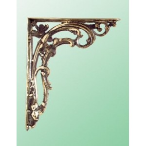 Scroll Brackets - Large - Brass - Pair