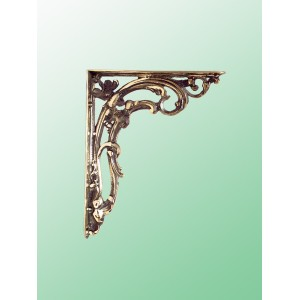 Scroll Brackets - Medium - Brass - Pair
