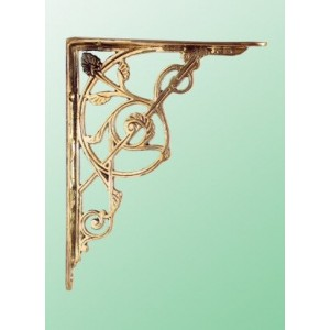 Trellis Brackets - Large - Brass - Pair