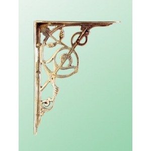 Trellis Brackets - Medium - Brass - Pair