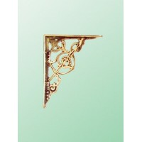 Trellis Brackets - Small - Brass - Pair