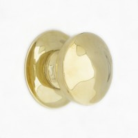Centre Door Pull - Round Brass