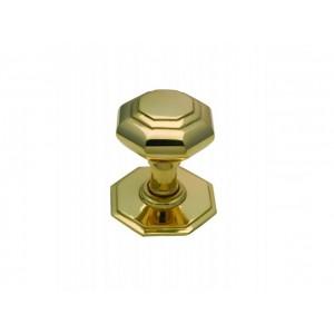 Centre Door Pull - Octagonal Brass - Small