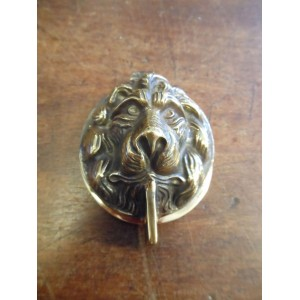Lions Head Lock Cover - Aged Brass