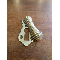 Reeded Escutcheon - Brass