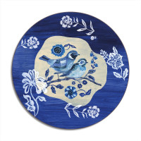 Blue Story – A Pair of Stonechats Placemat