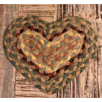 Braided Heart Coaster - Pampas
