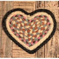 Braided Heart Coaster - Pashmina