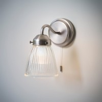 Pimlico Bathroom Wall Light - Satin Nickel