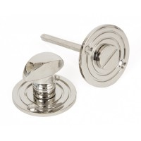 Round Bathroom Thumbturn - Polished Nickel