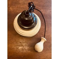 Ceiling Pull Switch - 'Bakelite' - Brown/Natural Oak - White/Natural Oak OR White/Painted White