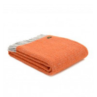 Illusion Throw - Pure New Wool - Pumpkin