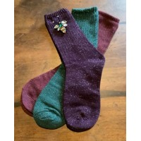 "SIXTON LONDON - Feliz Jewel Sock & ""Queen Bee"" Pin Gift Set - Womens"