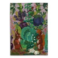 Rabbits in the Cabbage Patch - Tea Towel - Nathalie Lété - 50 x 70 cm