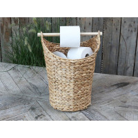 Basket style Toilet Roll Holder with Storage - Natural