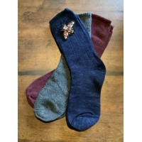 "SIXTON LONDON - Feliz Ruby Sock & ""Insect"" Pin Gift Set - Womens"