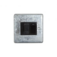 Galvanised Switched Fused Connection Unit - Black