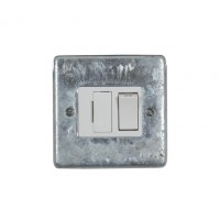 Galvanised Switched Fused Connection Unit - White