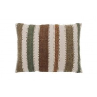Scandi Striped Cushion - Tweed