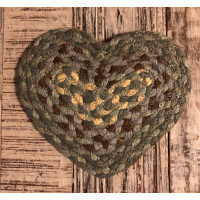 Braided Heart Coaster - Seaspray
