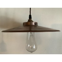 Shallow Coolie Shade - Antique Copper - 285mm Diameter.