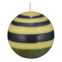 Small Striped Ball Eco Candle – Olive, Indigo & Jasmine