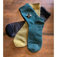 "SIXTON LONDON - Sock & ""Sparkly Bee"" Pin Gift Set - Womens"