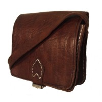 Saddle Bag - Square - Small - Tan or Dark Brown