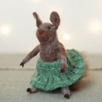 Suzy Squirrel Christmas Felt Decoration